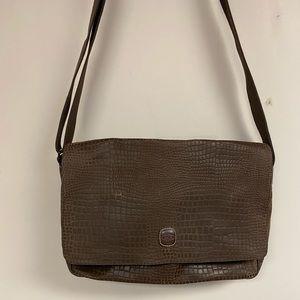 Brics Python Embossed Messenger Bag